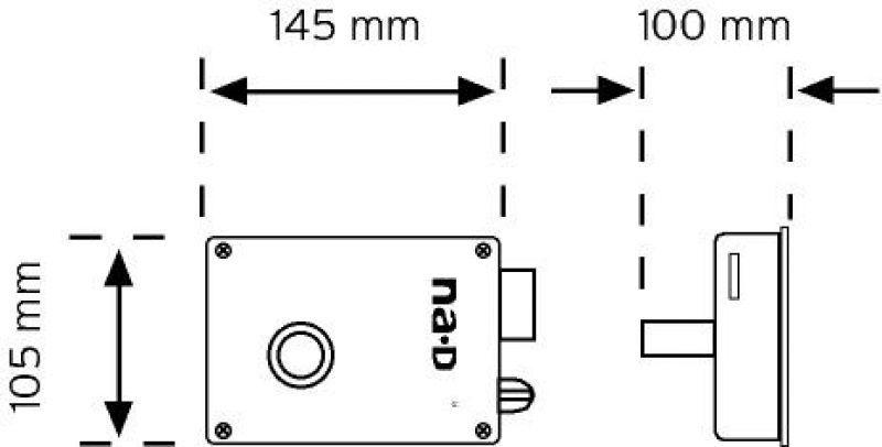 03005 Kilitli Kapı Otomatiği (Mekanik Buton) şema