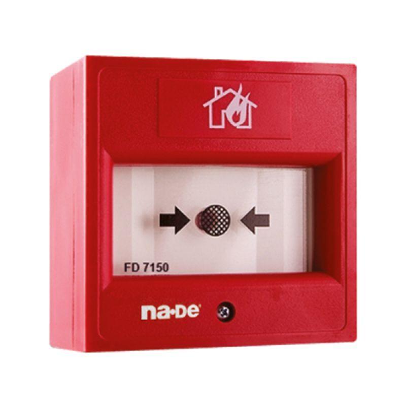 FD7150 Kırılabilir Cam İçerikli Adreslenebilir Yangın Alarm Butonu (Şeffaf Kapaksız)