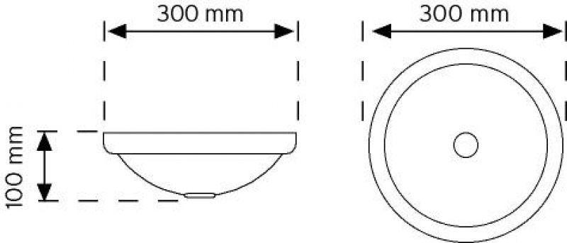 01024 LED'li Tavan Armatürü - 7.5W - 644 Lumen şema