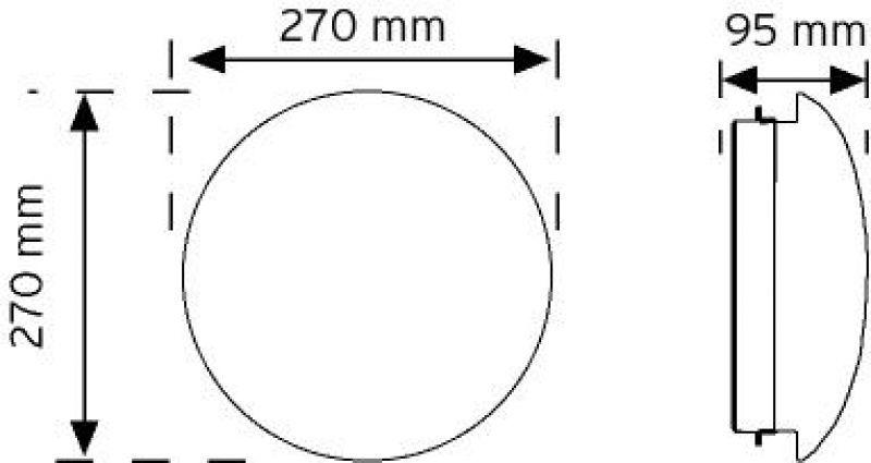10956 LED'li Tavan Armatürü şema