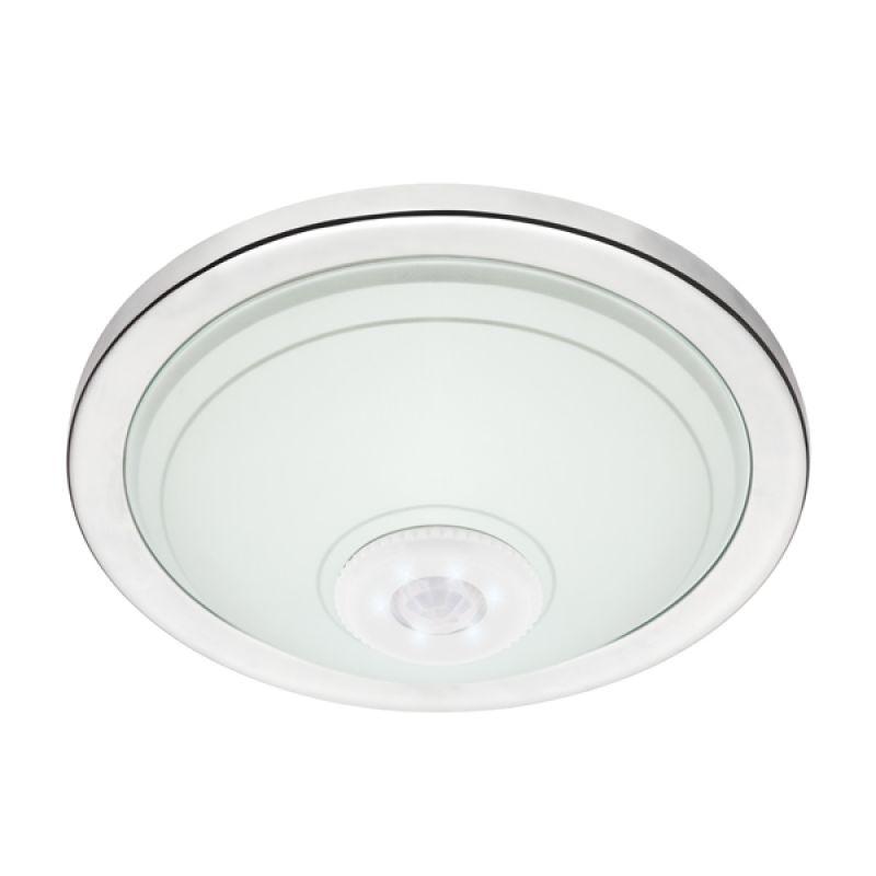 00777 Krom 360° Hareket Sensörlü LED Acil Aydınlatma Özellikli Tavan Armatürü