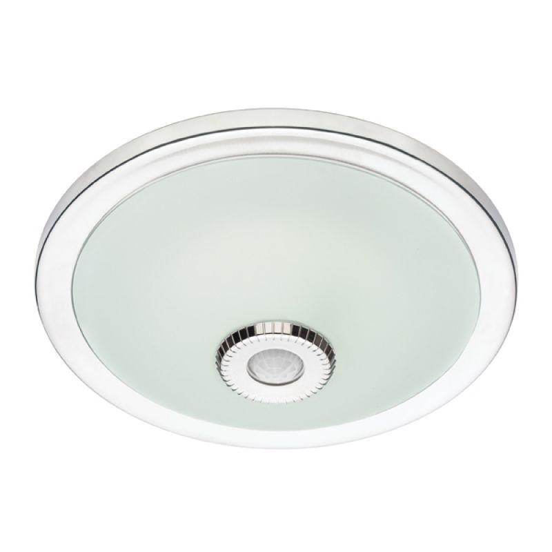 01051 Krom 360° Hareket Sensörlü LED'li Acil Aydınlatmalı Tavan Armatürü