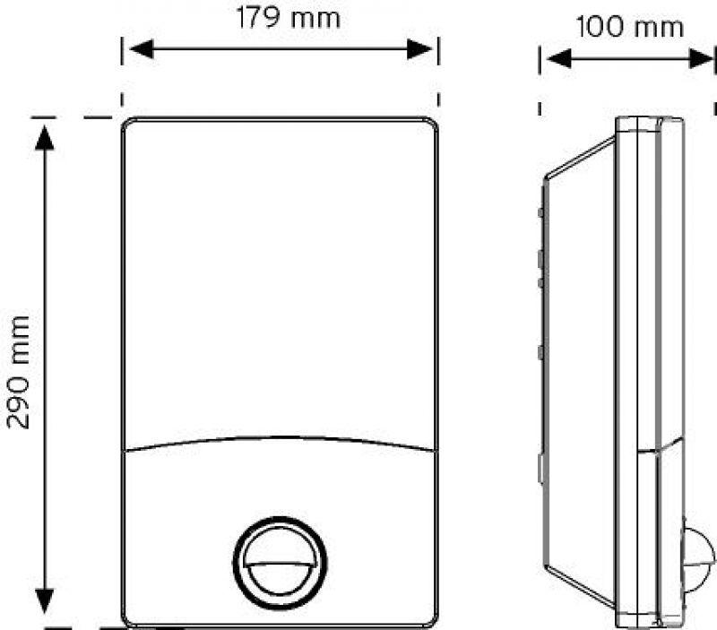 10201 110° Hareket Sensörlü Duvar Armatürü şema