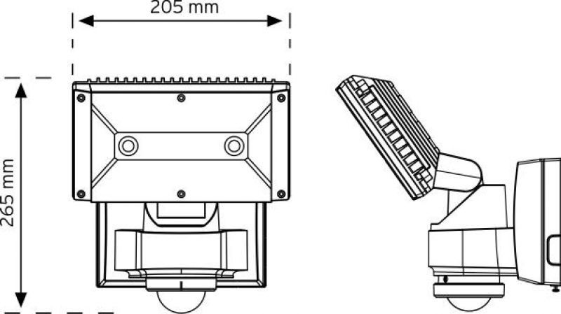 PRJ01 240° Hareket Sensörlü Projektör şema