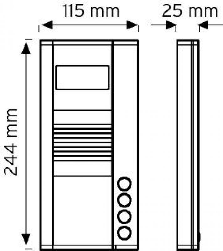 8NDC-244-04 Butonlu Tip Renkli Kameralı Zil Panelleri şema