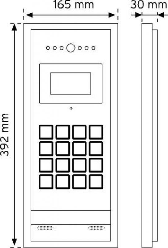 D28BC Digital Kameralı Panel RF-ID Kartlı şema