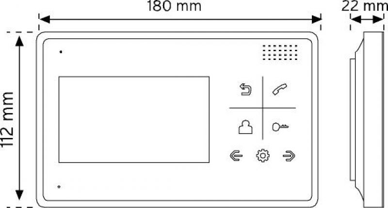 """M2804ADT-8 4.3"""" Renkli Görüntülü Diafon şema"""