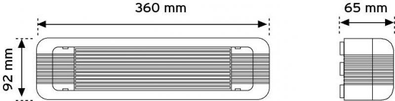 15036 36 LED'li Acil Aydınlatma Armatürü ( Acilde ) - Sıva üstü - Sticker dahil şema