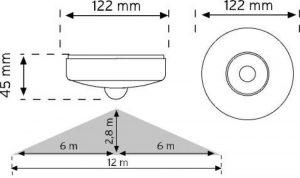 10464 360° Tavan Tipi Hareket Sensörü şema