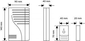 ST66 Kablosuz Zil Butonlu Kapı Zili