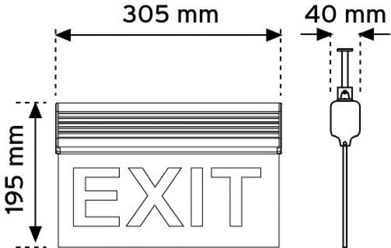 17110 - 305 mm Led'li Acil Yönlendirme Armatürleri-Zincirle Bağlantılı ( Çift taraflı ) şema