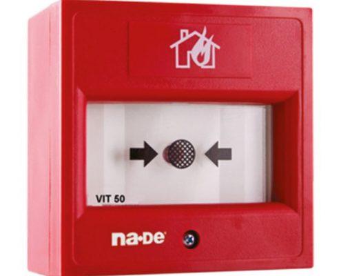 VIT50 Tekrardan Etkinleştirme Cam İçerikli Kablosuz Manuel Yangın Butonu
