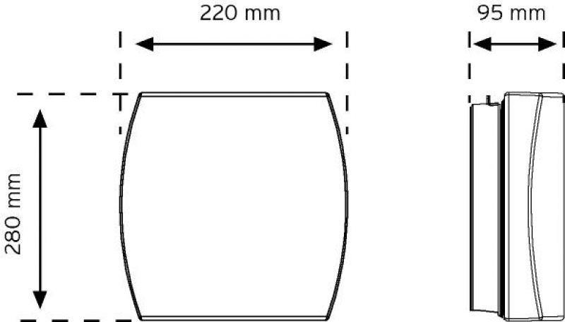 10805 Duvar Tipi Aydınlatma Armatürü şema