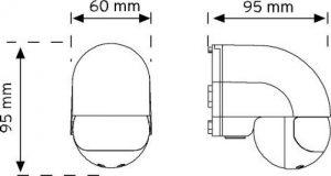10180 180° Duvar Tipi Hareket Sensörü