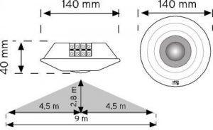 10360 360° Tavan Tipi Hareket Sensörü şema