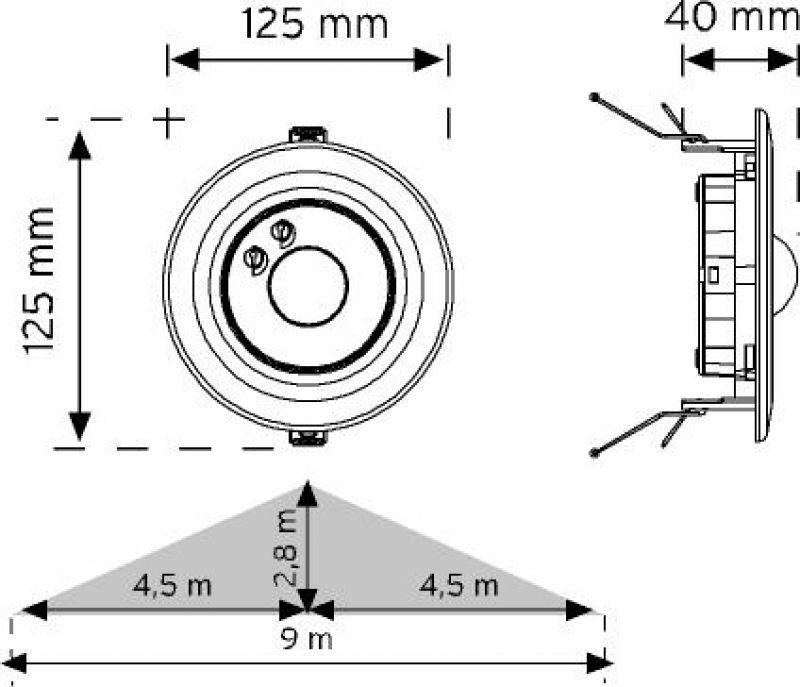 Kızılötesi - PırSensör - HareketSensörü - Sıvaaltı - 360Derece -Tavan