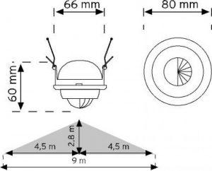 10365 360° Spot tipi Hareket Sensörü (Sıva Altı) şema