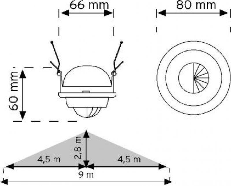 Kızılötesi - PırSensör - HareketSensörü - Sıvaaltı - 360Derece - Spot - Tavan