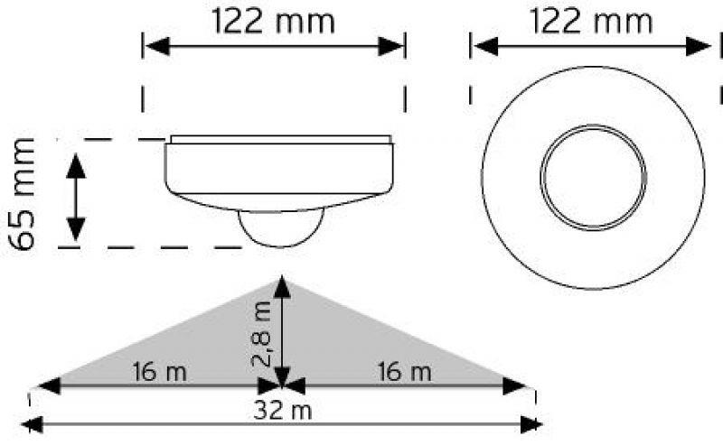 VarlıkSensörü - HareketSensörü - Sıvaüstü - 360Derece - 180Derece - Tavan - ÜçGözlü