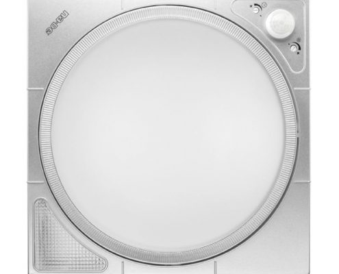 10710 Gri 360° Hareket Sensörlü LED'li Acil Aydınlatmalı Tavan Armatürü