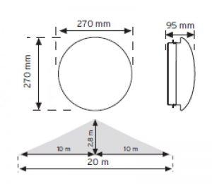 10951 HF (radar) Sensörlü Ledli Acil Aydınlatma Özellikli Armatürler şema