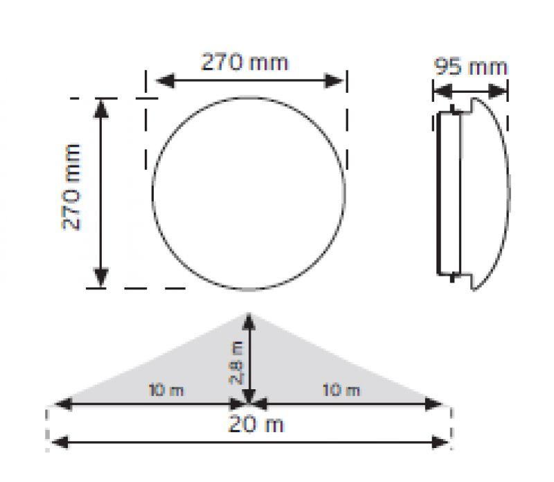 Ledli - HF - Radar Sensör -TavanArmatürü - 360Derece - DijitalSensörlü - Beyaz - AcilKitli - Şarjlı - OpalCam - Glop