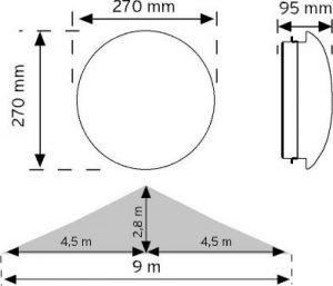 10952 HF (radar) Sensörlü LED'li Aydınlatma Armatürü şema