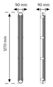 ETJ 02 Su Geçirmez LED'li HF Sensörlü Etanj Armatür şema
