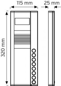 8NDC-320-08 Butonlu Tip Renkli Kameralı Zil Panelleri şema