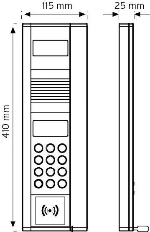 8NDKC-ID Renkli Kameralı - Keypadli RF-ID Zil Paneli şema