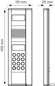 8NDKC Renkli Kameralı - Keypadli Zil Paneli şema