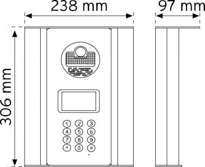 D21AC Digital Kameralı Panel şema