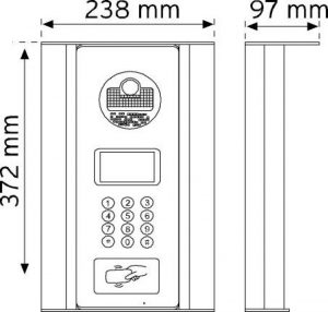 D21BC Digital Kameralı Panel RF-ID Kartlı şema