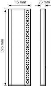 NDEK01-396-20 Butonlu Tip Ek Zil Panelleri şema