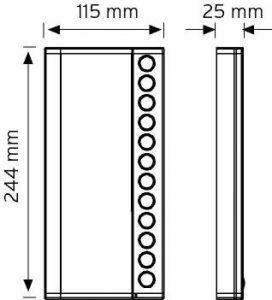 NDEK02-244-12 Butonlu Tip Ek Zil Panelleri şema