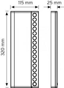 NDEK02-320-16 Butonlu Tip Ek Zil Panelleri şema