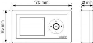 """NVM-350 MCW Beyaz 3,5"""" Renkli Görüntülü Diafon şema"""