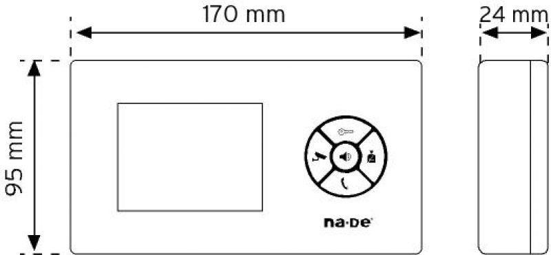 """NVM-360MC 3,5"""" Renkli Görüntülü Diafon 1 şema"""