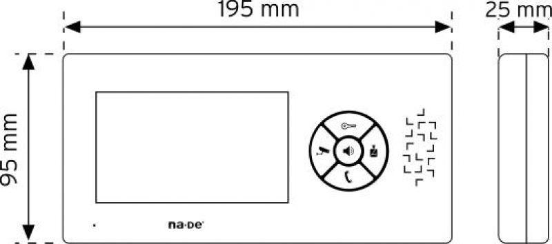 """NVM-430MC 4,3"""" Renkli Görüntülü Diafon şema"""