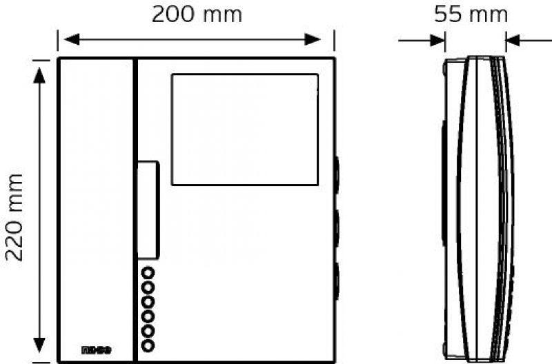 """NVM-550MC 4,3"""" Renkli Görüntülü Telefon ( Daireler arası görüşme özellikli ) şema"""