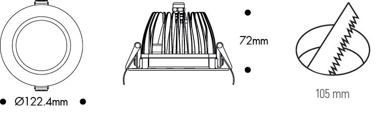 Downlight - 4inç - TavanArmatürü - Spot - Sıvaaltı - Ledli - Acilkit - Şarjlı